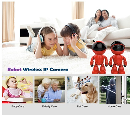 Wireless WIFI Full HD Robot IP Camera