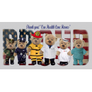 Health Care Heros American Police Bear