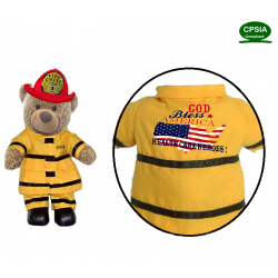 Health Care Heros American Fireman Bear